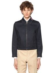 Thom Browne Zip Up Cotton Mackintosh Jacket