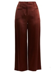 Diane Von Furstenberg Wide Leg Pintucked Culottes Brown