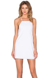 Donna Mizani Square Neck Flounce Dress White