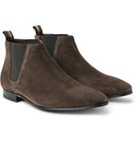 Paul Smith Marlowe Suede Chelsea Boots Dark Brown