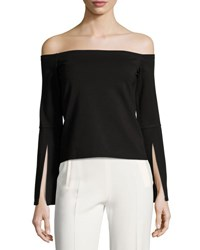 Alexis Iggy Off The Shoulder Knit Top Black