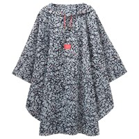 Joules Ditsy Print Poncho Navy Pink