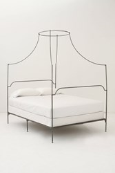 Anthropologie Campaign Canopy Bed Black