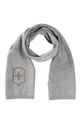 Victorinox Cross And Shield Intarsia Scarf Gray