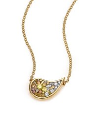 Pleve Sunburst Ombre Diamond And 18K Yellow Gold Small Scorpio Pendant Necklace Gold Multi