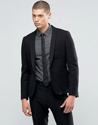 Hart Hollywood By Nick Slim Blazer In Waffle With Shawl Collar Black