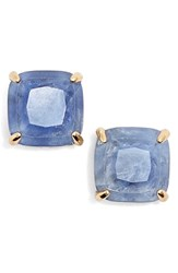 Women's Kate Spade New York Mini Small Square Semiprecious Stone Stud Earrings Denim Blue Gold