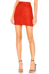 X By Nbd Mishka Leather Mini Skirt Red