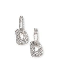 Mattioli Small 18K White Gold And Diamond Puzzle Drop Earrings