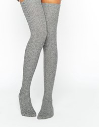 Jonathan Aston Harmony Over The Knee Socks Gray