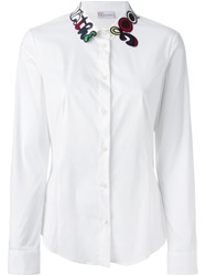 Red Valentino Embroidered Collar Shirt White