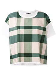 Sofie D'hoore Checked Boxy T Shirt Women Cotton 36 White
