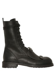 Ann Demeulemeester Lace Up Washed Leather Tall Boots