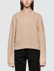 Alexander Wang Heavy French Terry Wide Neck Sweatshirt