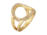 Vince Camuto Dainty Open Pave Ring Worn Gold Light Peach Pave Ring