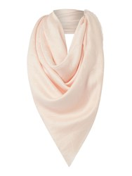 Armani Jeans Tone On Tone Square Scarf Light Pink