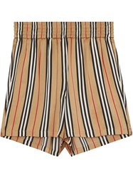 Burberry Icon Stripe Shorts Brown