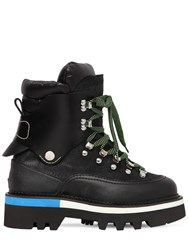 Dsquared 50Mm Suede And Nylon Hiking Boots Black