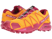 Salomon Speedcross 4 Bright Marigold Sangria Rose Violet Women's Shoes Orange