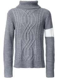 Guild Prime Cable Knit Jumper Grey