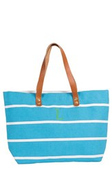 Cathy's Concepts Monogram Stripe Tote Blue