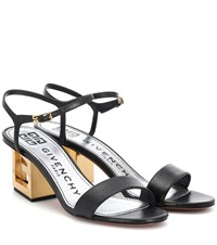 656db8a8c12 Givenchy Triangle Leather Sandals Black