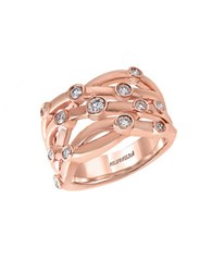 Effy Pave Rose Diamond And 14K Rose Gold Ring 0.53 Tcw