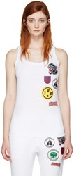 Dsquared2 White Patches Tank Top
