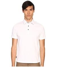 Jack Spade Keaton Jersey Polo White Men's Short Sleeve Knit