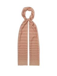 Max Mara Striped Voile Scarf Pink