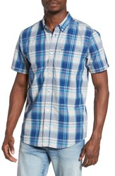Rvca Men's Plaid Short Sleeve Sport Shirt
