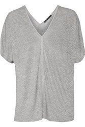 Vince Stretch Jersey Top Gray