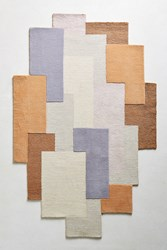 Anthropologie Tufted Quadrilateral Rug Swatch Cream