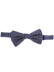 Canali Dotted Bow Tie Blue