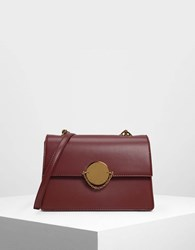 Charles And Keith Chain Link Classic Clutch Prune