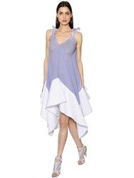 Antonio Berardi Striped Muslin And Cotton Poplin Dress