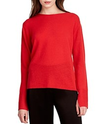Halston Heritage Cowl Back Cashmere Sweater Scarlet