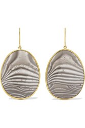 Pippa Small 18 Karat Gold Agate Earrings One Size