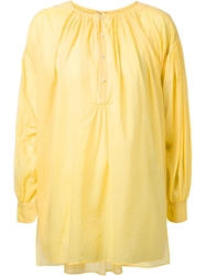 Arts And Science Pleated Blouse Yellow And Orange