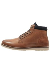 Redskins Babylone Laceup Boots Cognac Marine
