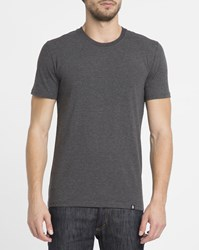 Roscoe Mottled Charcoal Tyson Round Neck T Shirt Grey