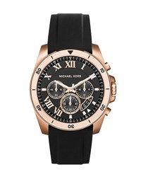 Brecken 44Mm Stainless Steel Watch Rose Golden Michael Kors