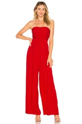 Endless Rose X Revolve Strapless Jumpsuit Red