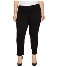 Nydj Plus Size Alina Pull On Ankle In Black Black Women's Jeans