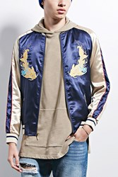 Forever 21 Hyden Yoo Embroidered Jacket Navy Gold