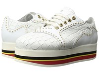 Just Cavalli Cocco Printed Leather Sneaker White