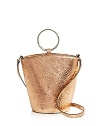 Street Level Rayne Metallic Embossed Mini Bucket Bag 100 Exclusive Rose Gold Silver