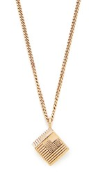 A.P.C. Collier Rubik Necklace Brass