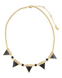 Charm And Chain Spike Collar Necklace 16 Purple