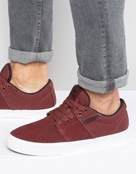Supra Stacks Vulc Ii Suede Trainers Red